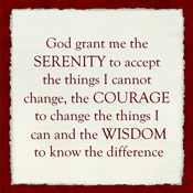 Serenity Prayer - red frame