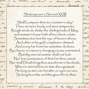 Shakespeare's Sonnet 18 - word frame