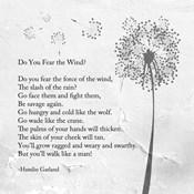 Hamlin Garland - Do You Fear the Wind