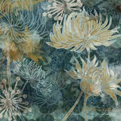Navy Chrysanthemums I