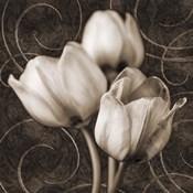 Tulip & Swirls I