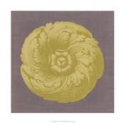 Gilded Rosette II