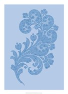 Porcelain Blue Motif II