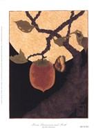 Moon, Persimmon and Moth