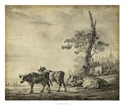 Pastoral Etching I