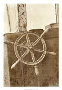 Sepia Ship's Wheel II