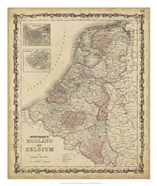 Johnson's Map of Holland & Belgium