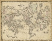 Johnson's Map of the World
