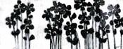 Black Flowers on White I