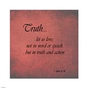 Truth 1 John 3:18