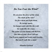 Hamlin Garland - Do you Fear the Wind quote