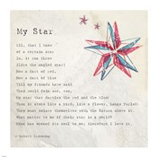My Star by Robert Browning - square