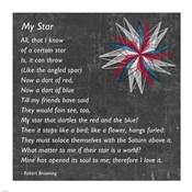 My Star by Robert Browning - gray