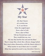 My Star by Robert Browning - color boarder