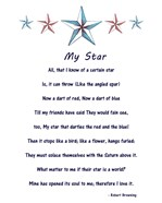 My Star by Robert Browning - white