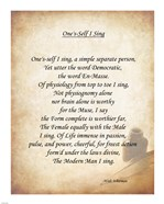 One's Self I Sing
