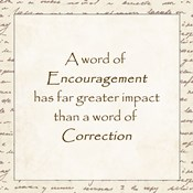 A word of Encouragement - square