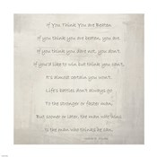 If You Think You are Beaten by Walter D. Wintle