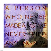 Einstein – Never Made a Mistake Quote