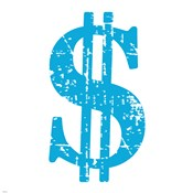 Blue Dollar Sign
