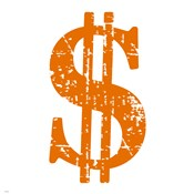 Orange Dollar Sign