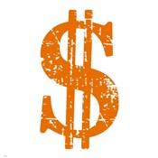 Orange Dollar Sign