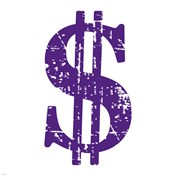 Purple Dollar Sign