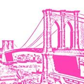 Pink Brooklyn Bridge