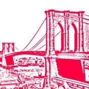 Red Brooklyn Bridge