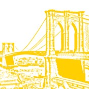 Yellow Brooklyn Bridge