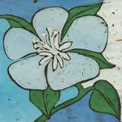 Turquoise Batik Botanical VI