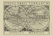 Vintage Map on Khaki I