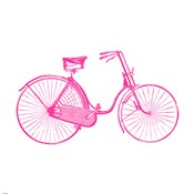 Pink On White Bicycle