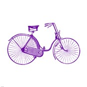 Purple On White Bicycle