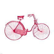 Red on White Bicycle