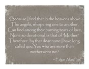 More Than Mother, Edgar Allan Poe