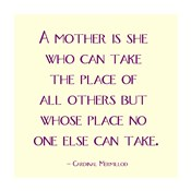 A Mother Is No One Else