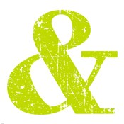 Lime Green Ampersand