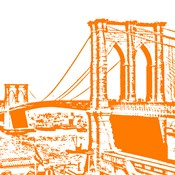Orange Brooklyn Bridge