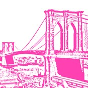 Pink Brooklyn Bridge