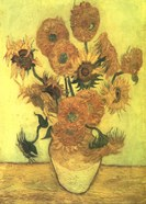 Still Life, Vase With Fifteen Sunflowers