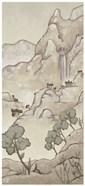 Non-Embellished Chinoiserie Landscape I