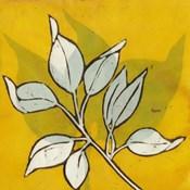 Gold Batik Botanical I