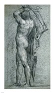Nude Man Carrying a Rudder on His Shoulder