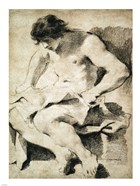 Study of a Seated Young Man