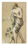 Study of a Female Figure with a Putto
