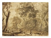 Woodland Landscape with Nymphs and Satyrs