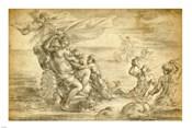 Venus in Her Sea Chariot Suckling Cupid
