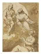 Saint Francis Interceding with the Virgin on Behalf of a Female Saint