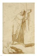 A Monk Carrying a Cross